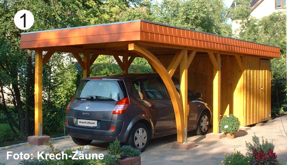 carports krech z une gmbh. Black Bedroom Furniture Sets. Home Design Ideas